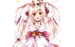 Rating: Safe Score: 51 Tags: animal_ears cleavage heterochromia japanese_clothes neko nekomimi syroh tagme tail User: edogawaconan