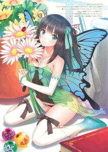 Rating: Safe Score: 54 Tags: cleavage dress fairy pantsu peace_keeper_daisy see_through thighhighs tony_taka wings User: YamatoBomber