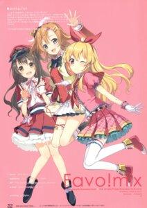 Rating: Safe Score: 16 Tags: 6u aikatsu! crossover garter heels hoshimiya_ichigo kousaka_honoka love_live! shimamura_uzuki the_idolm@ster the_idolm@ster_cinderella_girls thighhighs User: b923242