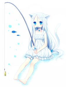 Rating: Safe Score: 28 Tags: animal_ears dress ku nekomimi tail User: Nekotsúh