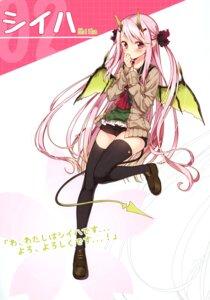 Rating: Safe Score: 25 Tags: horns pointy_ears sakuragi_ren sweater tail thighhighs wings User: kiyoe