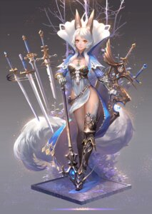Rating: Safe Score: 53 Tags: animal_ears armor dress fom pixiv_fantasia pixiv_fantasia_fallen_kings sword User: Aneroph