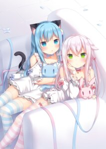 Rating: Safe Score: 87 Tags: amashiro_natsuki animal_ears nekomimi stockings tail thighhighs User: Mr_GT