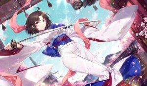 Rating: Safe Score: 30 Tags: gabiran kara_no_kyoukai kimono ryougi_shiki sword User: Mr_GT