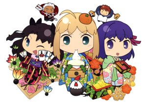 Rating: Safe Score: 14 Tags: archer chibi emiya_shirou fate/stay_night kimono matou_sakura saber toosaka_rin User: drop