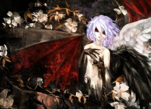 Rating: Questionable Score: 9 Tags: hirojou loli naked remilia_scarlet touhou wings User: Radioactive