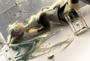 Rating: Safe Score: 55 Tags: hatsune_miku headphones saihate thighhighs vocaloid User: charunetra