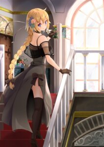 Rating: Questionable Score: 40 Tags: dress fate/grand_order heels jeanne_d'arc jeanne_d'arc_(fate) nyon_oekaki see_through thighhighs User: sym455