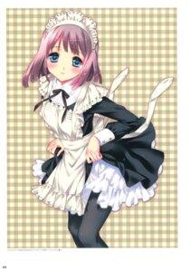 Rating: Safe Score: 36 Tags: dress kamiya_maneki maid pantyhose User: crim