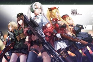 Rating: Safe Score: 38 Tags: cleavage garter girls_frontline gun headphones pantyhose rff stockings thighhighs uniform User: charunetra
