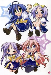 Rating: Safe Score: 3 Tags: hiiragi_kagami hiiragi_tsukasa izumi_konata lucky_star seifuku takara_miyuki yoshimizu_kagami User: Radioactive