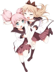 Rating: Safe Score: 36 Tags: namori seifuku toshinou_kyouko yoshikawa_chinatsu yuru_yuri User: Anonymous