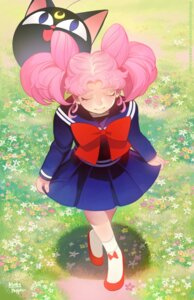 Rating: Safe Score: 6 Tags: bloodypepper chibiusa luna-p sailor_moon seifuku skirt_lift User: charunetra