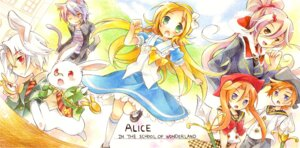 Rating: Safe Score: 9 Tags: alice alice_in_wonderland cheshire_cat tachitsu_teto white_rabbit User: fireattack
