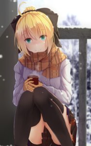 Rating: Safe Score: 55 Tags: bakanoe fate/grand_order saber saber_lily seifuku thighhighs User: Mr_GT