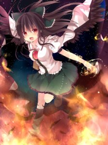 Rating: Safe Score: 25 Tags: marotti reiuji_utsuho touhou wings User: Nekotsúh