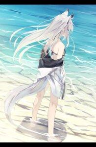 Rating: Safe Score: 72 Tags: animal_ears azur_lane bikini_top kawakaze_(azur_lane) nagishiro_mito open_shirt swimsuits tail wet User: Nepcoheart