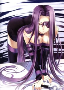 Rating: Safe Score: 35 Tags: cleavage eyepatch fate/stay_night rider tachibana_yuu thighhighs User: Davison