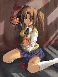 Rating: Questionable Score: 19 Tags: blood missing_link seifuku shingo tsukihime yumizuka_satsuki User: KyubiFox
