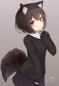 Rating: Safe Score: 39 Tags: animal_ears mayogii seifuku sweater tail User: BattlequeenYume