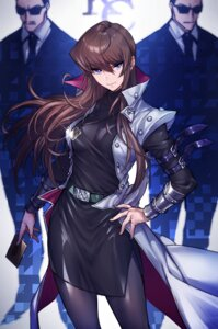 Rating: Safe Score: 36 Tags: business_suit dress genderswap kaiba_seto maruchi megane pantyhose yugioh User: mash