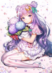 Rating: Safe Score: 57 Tags: dress heels patchouli_knowledge pyonsuke_(pyon2_mfg) thighhighs touhou User: 蕾咪