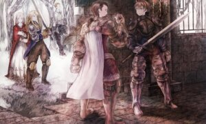 Rating: Safe Score: 17 Tags: agrias_oaks armor balflear delita_heiral dress final_fantasy final_fantasy_tactics maekakekamen ovelia_atkascha ramza_beoulve sword User: Noodoll