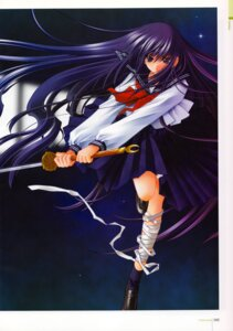 Rating: Safe Score: 14 Tags: azuma_hazuki bandages carnelian seifuku sword yami_to_boushi_to_hon_no_tabibito User: MirrorMagpie
