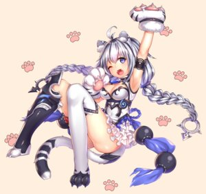 Rating: Questionable Score: 66 Tags: animal_ears armor cleavage shennai_misha tail thighhighs User: Mr_GT