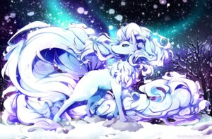 Rating: Safe Score: 15 Tags: alola_ninetales invidiata monster pokemon signed User: charunetra