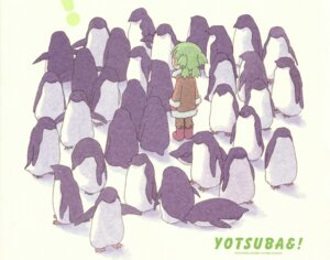 Rating: Safe Score: 9 Tags: koiwai_yotsuba paper_texture penguin yotsubato! User: Radioactive