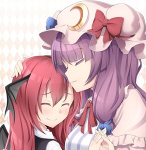 Rating: Safe Score: 19 Tags: koakuma nogisaka_kushio patchouli_knowledge touhou wings User: charunetra