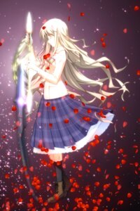 Rating: Safe Score: 21 Tags: chaos;head kusunoki_yua megane sasaki_mutsumi seifuku sword User: Radioactive