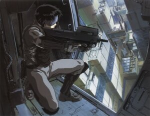 Rating: Safe Score: 23 Tags: ghost_in_the_shell gun kusanagi_motoko shirow_masamune User: zhukovsan