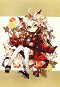 Rating: Safe Score: 41 Tags: animal_ears banpai_akira japanese_clothes kitsune tail thighhighs User: Twinsenzw