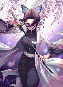 Rating: Safe Score: 37 Tags: hate_(pixiv_17180421) japanese_clothes kimetsu_no_yaiba kochou_shinobu sword uniform User: charunetra