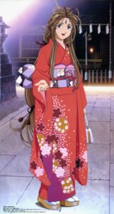 Rating: Safe Score: 13 Tags: ah_my_goddess belldandy kimono stick_poster User: minakomel