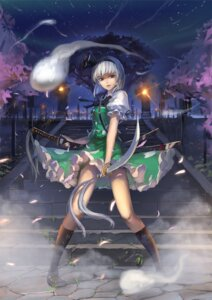 Rating: Safe Score: 43 Tags: konpaku_youmu nanairono_kaigashi sword touhou User: Mr_GT