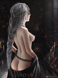 Rating: Questionable Score: 34 Tags: ass dark_souls linoir nipples nopan tattoo topless watermark User: BattlequeenYume