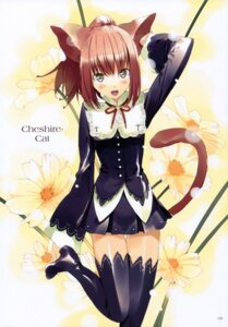 Rating: Safe Score: 36 Tags: alice_in_wonderland animal_ears cheshire_cat fancy_fantasia nekomimi tail thighhighs ueda_ryou User: Chrissues
