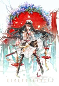 Rating: Safe Score: 25 Tags: heels rakugakiii sword thighhighs uniform User: mash