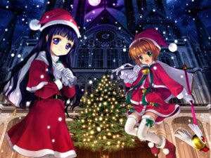 Rating: Safe Score: 18 Tags: card_captor_sakura christmas daidouji_tomoyo kinomoto_sakura moonknives User: blooregardo