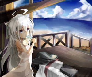 Rating: Safe Score: 36 Tags: dress hibiki_(kancolle) kantai_collection miyabino no_bra summer_dress User: KazukiNanako