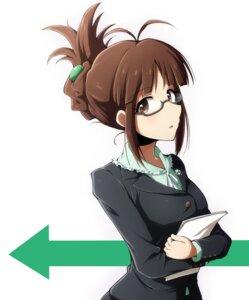 Rating: Safe Score: 12 Tags: akizuki_ritsuko business_suit megane rariemonn the_idolm@ster User: saemonnokami