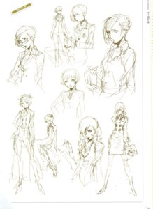 Rating: Safe Score: 3 Tags: megaten persona persona_4 sketch soejima_shigenori User: admin2