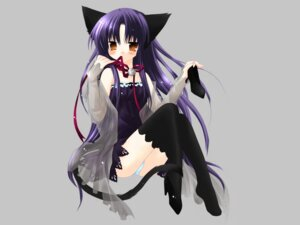 Rating: Safe Score: 15 Tags: animal_ears nekomimi pantsu pure_pure sakurazawa_izumi thighhighs tobari wallpaper User: Radioactive