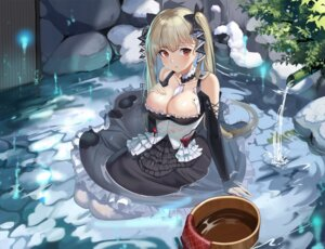 Rating: Questionable Score: 45 Tags: azur_lane breast_hold formidable_(azur_lane) gothic_lolita lolita_fashion m_chant no_bra onsen see_through wet wet_clothes User: BattlequeenYume