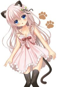 Rating: Safe Score: 34 Tags: animal_ears cleavage dress nekomimi suirentou tail thighhighs User: Mr_GT