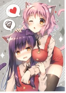 Rating: Questionable Score: 26 Tags: animal_ears mauve nekomimi overalls tail thighhighs User: Nepcoheart