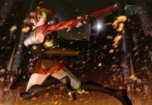 Rating: Safe Score: 59 Tags: armor bandages gun koutetsujou_no_kabaneri mumei no_bra tezuka_kyouhei User: drop